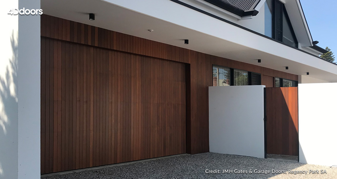 4Ddoors - Hörmann Sectional Garage Door with custom cladding